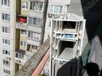 osteklenie dvuh lodzhij PVH s montazhom kryshi 8 387x291 - Фото остекления балконного блока № 70