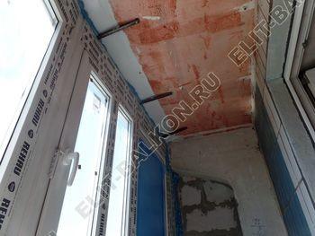 osteklenie lodzhii PVH montazh novogo parapeta 19 387x291 - Фото остекления балкона № 63