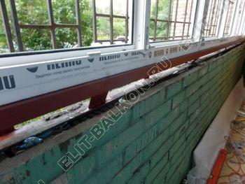 osteklenie lodzhii na pervom etazhe 13 387x291 - Фото остекления балкона № 66