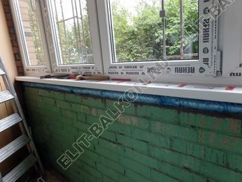 osteklenie lodzhii na pervom etazhe 18 387x291 - Фото остекления балкона № 66