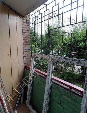 osteklenie lodzhii na pervom etazhe 2 387x291 - Фото остекления балкона № 66