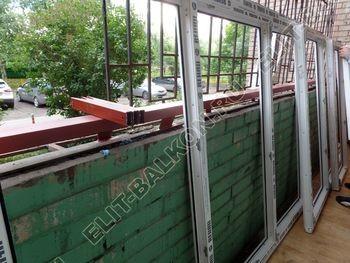 osteklenie lodzhii na pervom etazhe 4 387x291 - Фото остекления балкона № 66