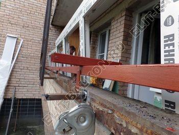 osteklenie lodzhii na pervom etazhe 5 387x291 - Фото остекления балкона № 66