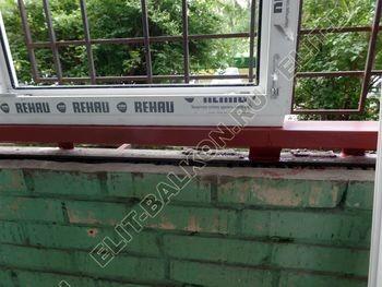 osteklenie lodzhii na pervom etazhe 8 387x291 - Фото остекления балкона № 66