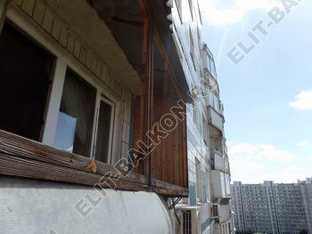 osteklenie lodzhii s vynosom aljuminiem vnutrennjaja otdelka 2 387x291 - Фото остекления балкона № 61