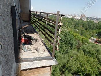 ukreplenie balkona vneshnjaja otdelka balkona 3 387x291 - Фото остекления балкона № 65