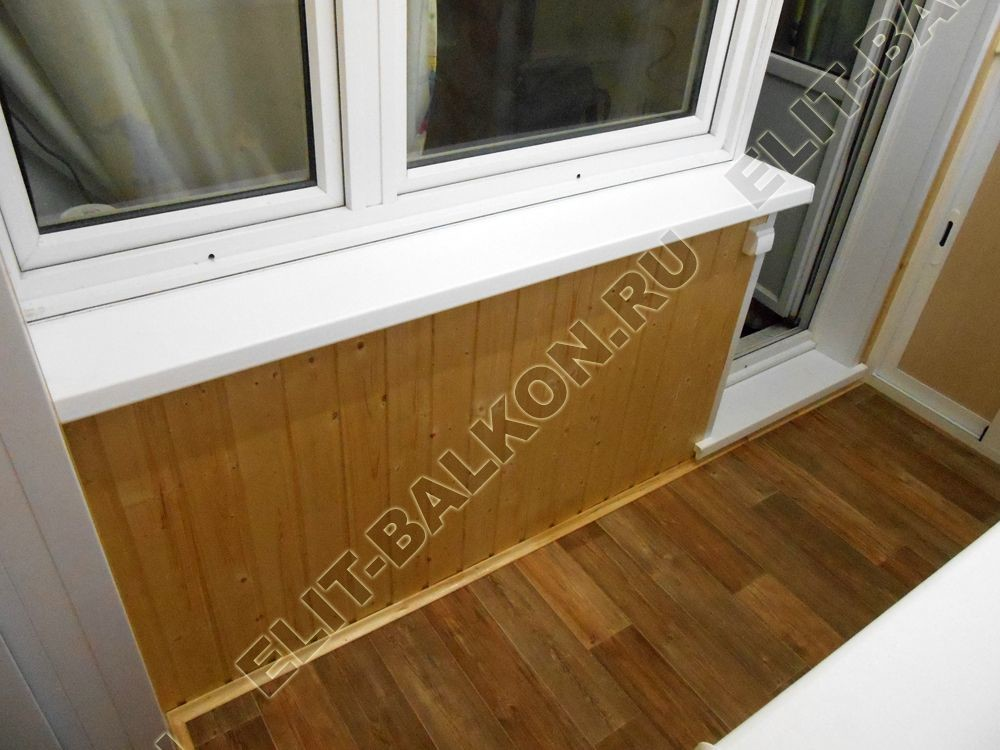 shkaf razdvizhnoj na balkon 18 - Пол на балкон