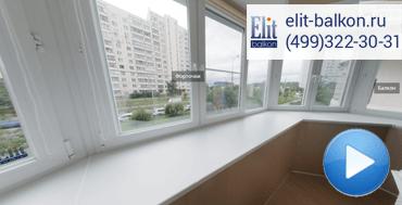 Утепление балкона, остеклением с выносом, пластиком, окна Калева и отделкой